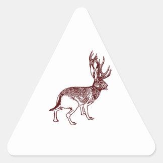 Jackalope Triangle Sticker