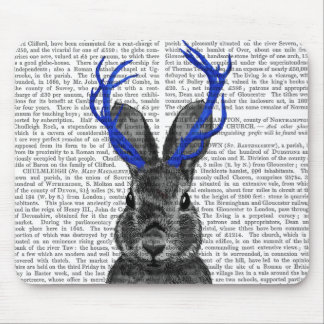 Jackalope with Blue Antlers Mouse Pad