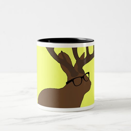jackalope with glasses mug