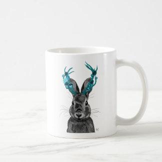 Jackalope with Turquoise Antlers Coffee Mug