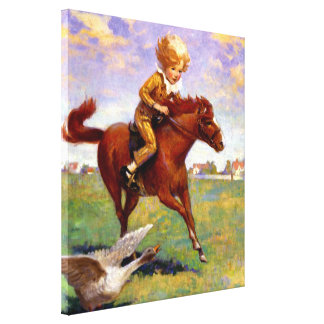 """""""Jackanapes"""" by Jessie Willcox Smith Stretched Canvas Print"""