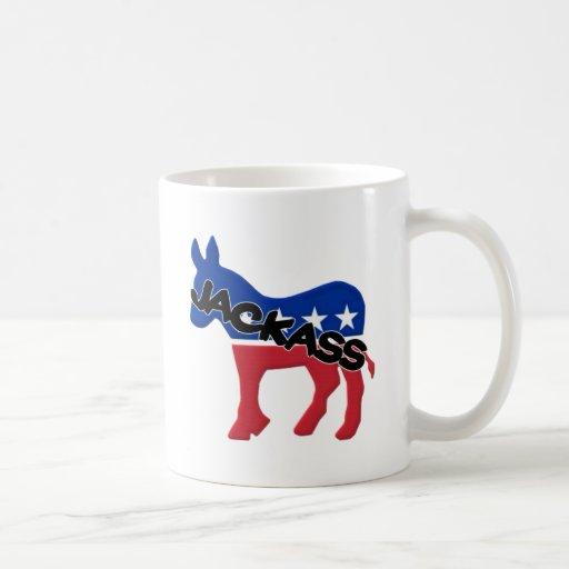 Jackass de Demócrata Taza Básica Blanca