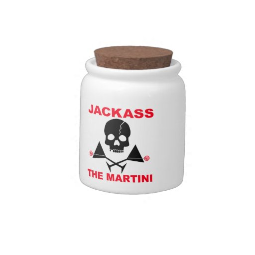 JACKASS, THE MARTINI COCKTAIL SNACK JAR CANDY DISH