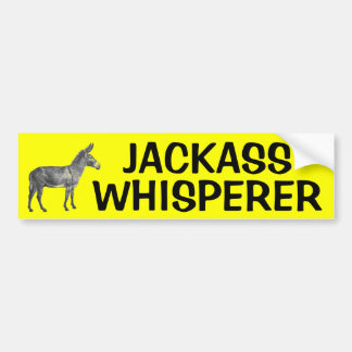 JACKASS WHISPERER BUMPER STICKER