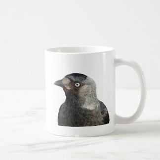 Jackdaw Bird Portrait Vector Coffee Mug
