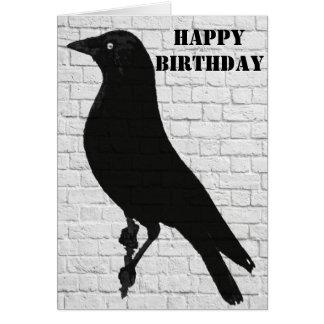 Jackdaw Graffiti Happy Birthday Card