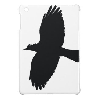 Jackdaw In Flight Silhouette Cover For The iPad Mini