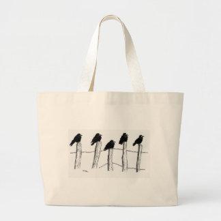 Jackdaws Large Tote Bag