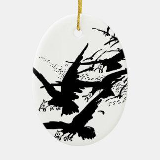 jackdaws. christmas ornament