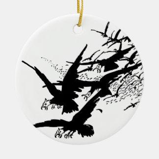 jackdaws. christmas tree ornaments
