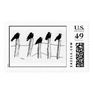 Jackdaws Stamp