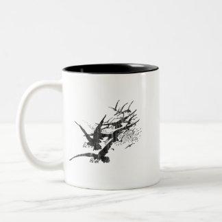 Jackdaws Two-Tone Coffee Mug