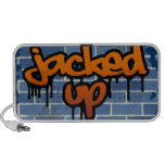 jacked up brick wall ghetto design iPhone speakers