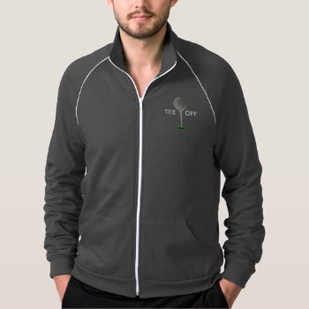 Jacket Shirt Mens Golf Tee - Tee Off by CREATIVEforBUSINESS at Zazzle