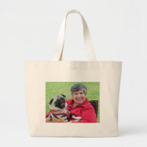 Jacki M and Sid Large Tote Bag