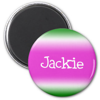 Jackie 2 Inch Round Magnet