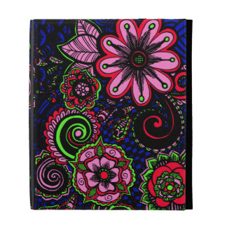 Jackie Floral iPad Folio Covers