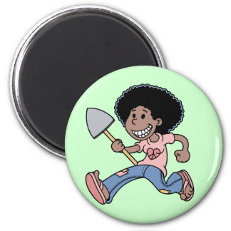 Jackie Green 2 Inch Round Magnet