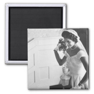 Jackie Kennedy, 1953 2 Inch Square Magnet