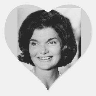 Jackie Kennedy Heart Sticker