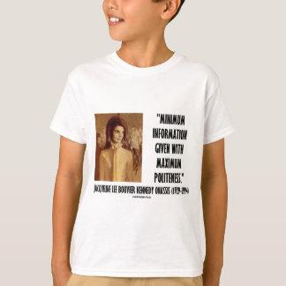 Jackie Kennedy Minimum Information Maximum Polite T-Shirt