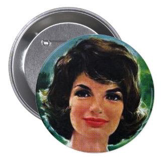 Jackie Kennedy Pin Redondo De 3 Pulgadas