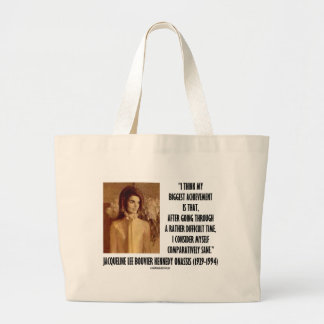Jackie Kennedy Portrait Comparatively Sane Quote Jumbo Tote Bag