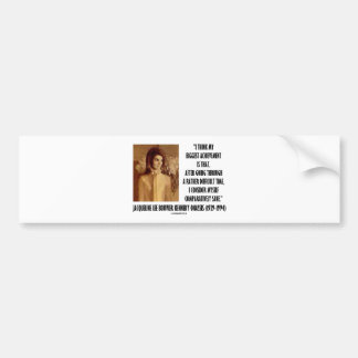 Jackie Kennedy Portrait Comparatively Sane Quote Car Bumper Sticker