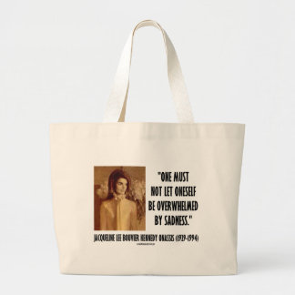 Jackie Kennedy Portrait Not Let Oneself Sadness Jumbo Tote Bag