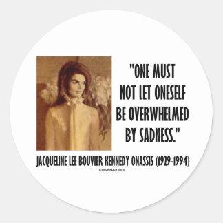 Jackie Kennedy Portrait Not Let Oneself Sadness Round Stickers