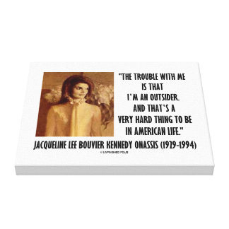 Jackie Kennedy Portrait Trouble With Me Outsider Canvas Print
