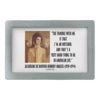 Jackie Kennedy Portrait Trouble With Me Outsider Rectangular Belt Buckle