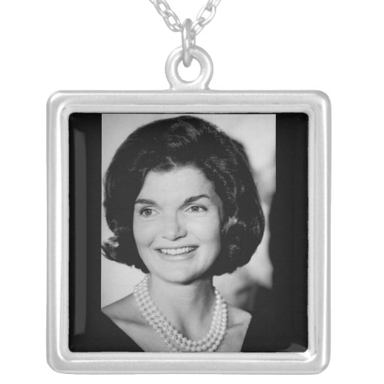 Jackie Kennedy Silver Plated Necklace