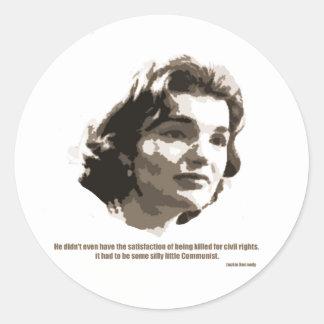 jackie Kennedy Round Sticker