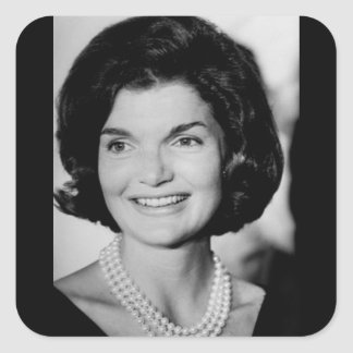 Jackie Kennedy Square Stickers