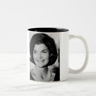 Jackie Kennedy Taza De Dos Tonos