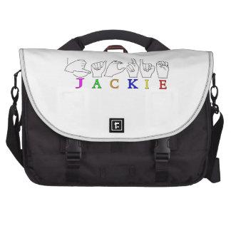 JACKIE NAME ASL FINGERSPELLED SIGN BAG FOR LAPTOP