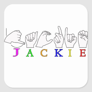 JACKIE NAME ASL FINGERSPELLED SIGN STICKER