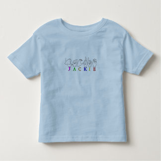 JACKIE NAME ASL FINGERSPELLED SIGN TODDLER T-SHIRT