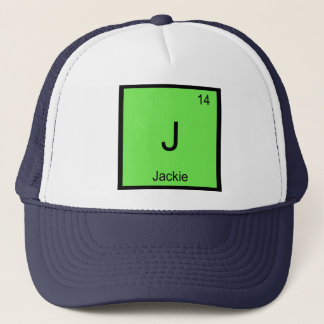Jackie Name Chemistry Element Periodic Table Trucker Hat
