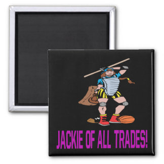 Jackie Of All Trades 2 Inch Square Magnet