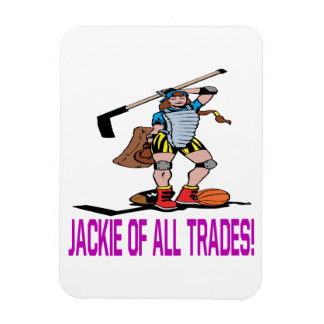 Jackie Of All Trades Rectangular Photo Magnet