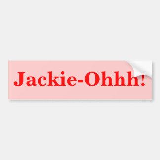 ¡Jackie-Ohhh! Pegatina Para Auto