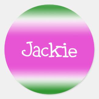 Jackie Round Stickers