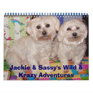 Jackie y aventuras salvajes y de Krazy descaradas Calendario