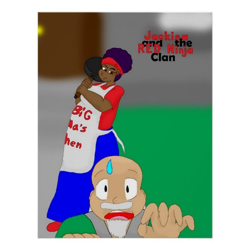 Jackiea and the RED Ninja Clan Cover 12 Poster