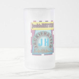 jackieHATTEN.com Frosted Glass Beer Mug
