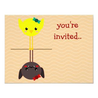 jackill bird bat 4.25x5.5 paper invitation card