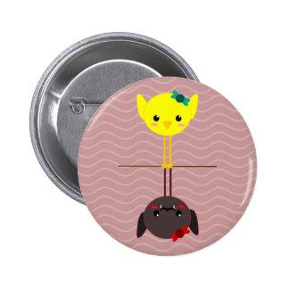 jackill bird bat pinback button