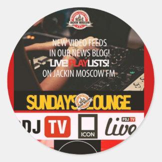 Jackin Moscow FM/News Classic Round Sticker
